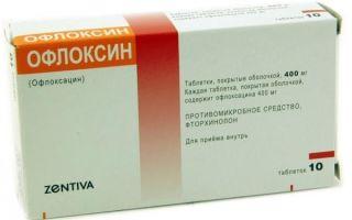 Офлоксин: особенности и инструкция по применению, отзывы, аналоги, цены